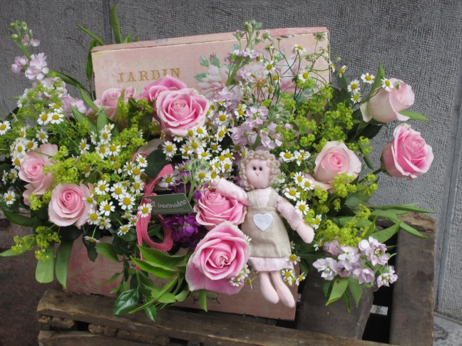 Caja de flores de Bebe 002