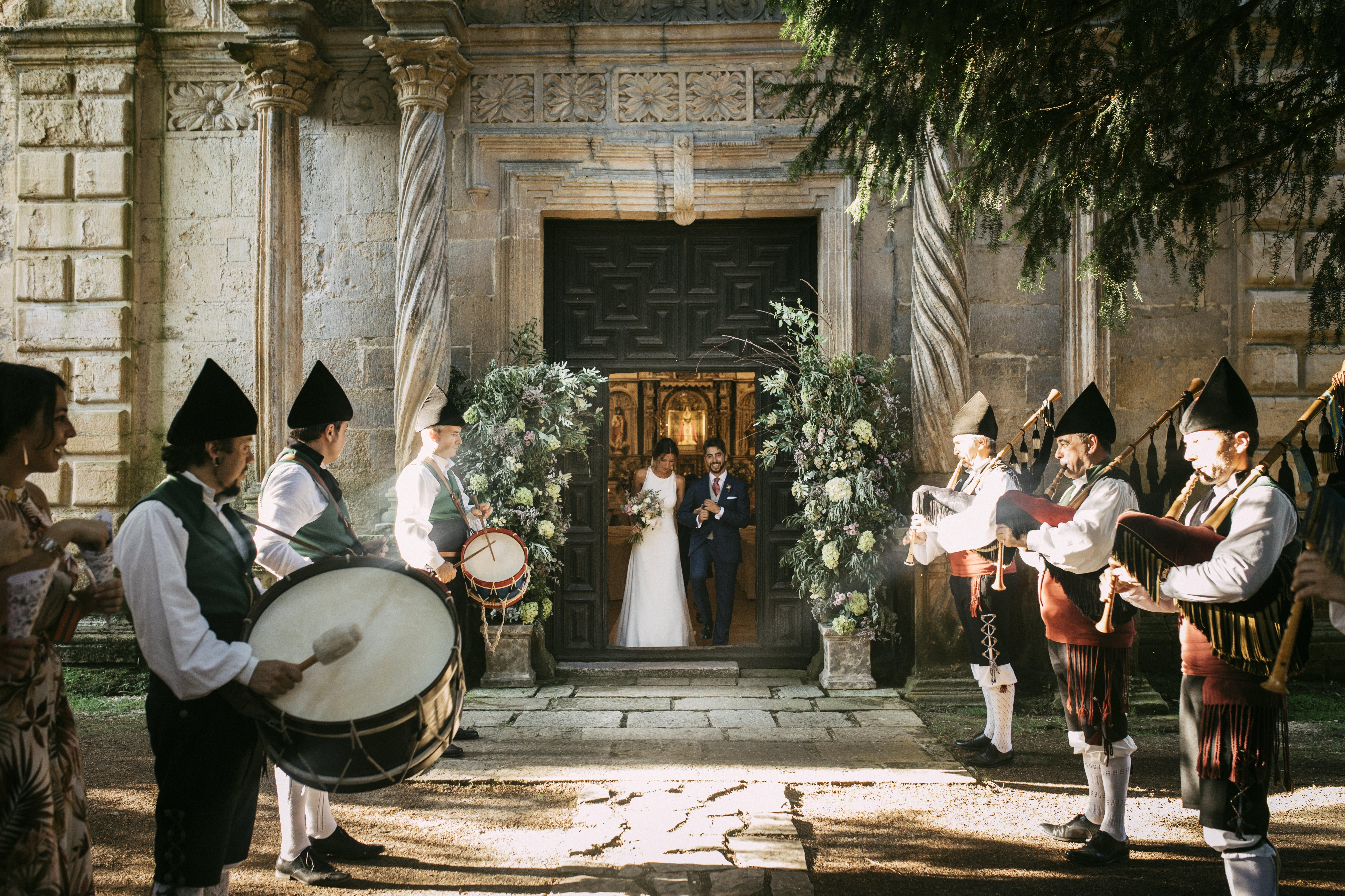 Una boda íntima en el Palacio de Meres